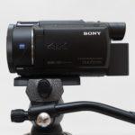 ビデオ雲台(G2180)でビデオカメラ(FDR-AX55)のカウンターバランスを取る方法