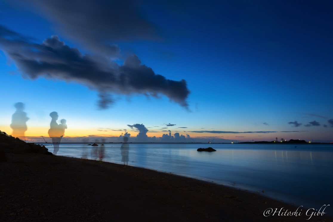 瀬長島からみる夕日