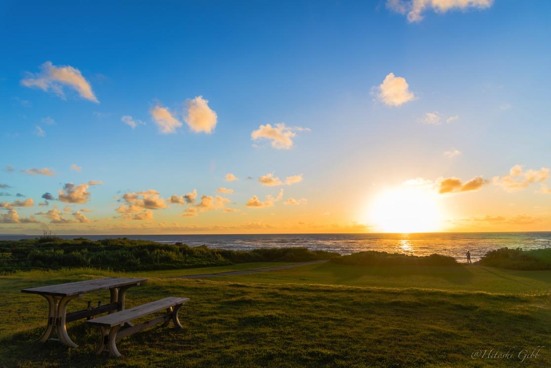 伊計島から見える朝日