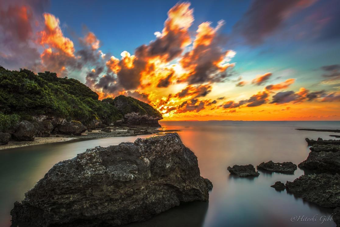 エージナ島を撮影。ND400を活用した作例。